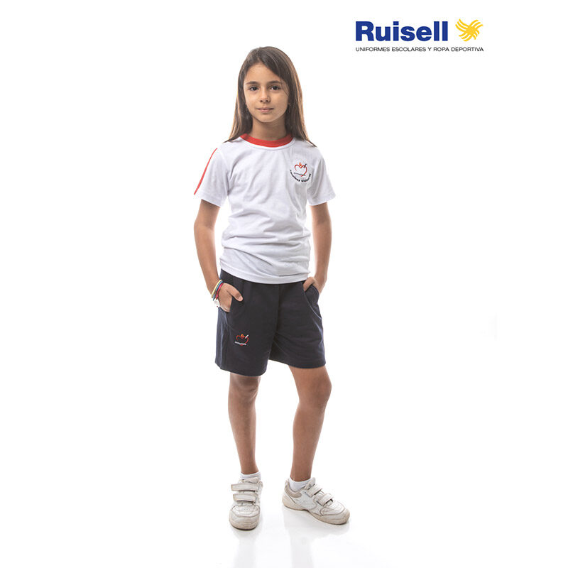 Camiseta de manga corta. Escuelas Agustinas Misioneras. Ropa Deportiva
