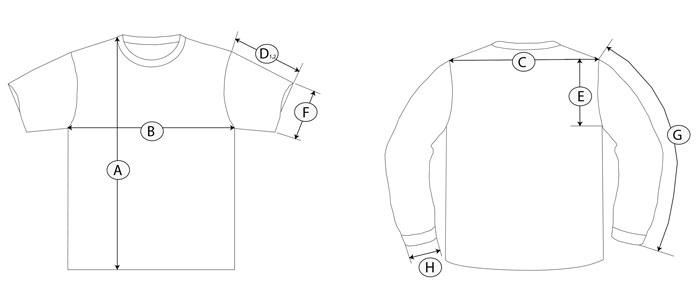 camiseta guia de talla