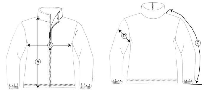 chaqueta chandal guia de talla