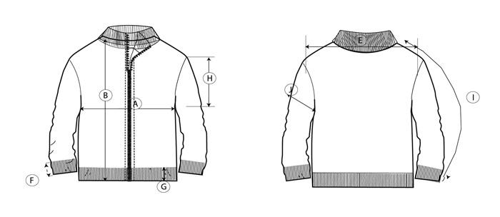 chaqueta semicisne guia de talla