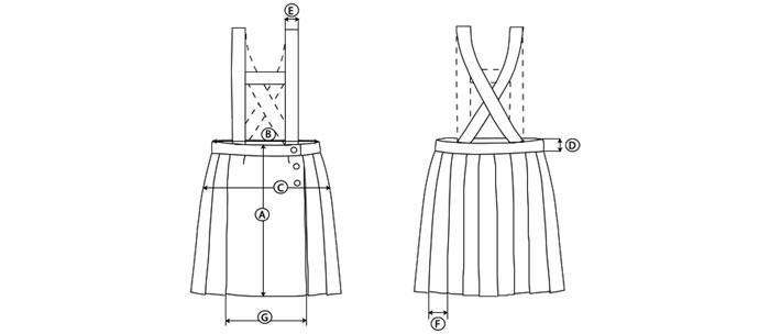 falda guia de talla