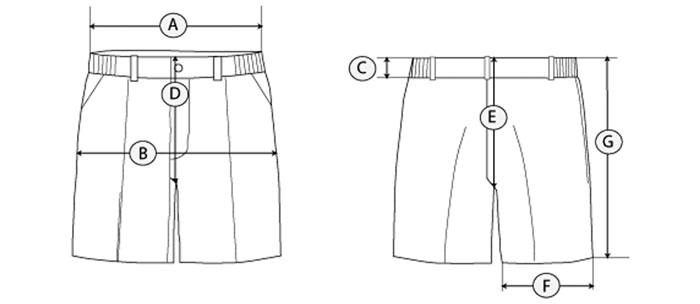 pantalon corto guia de tallas