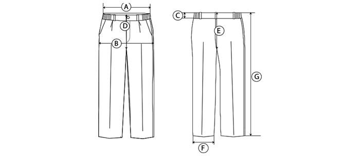 pantalon largo guia de tallas