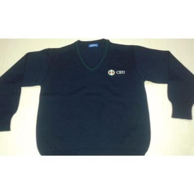 Suéter pico punto liso. Colegio CEU.