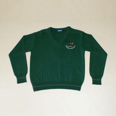 Suéter de pico. Colegio Agustinas Misioneras. Uniformes Escolares.