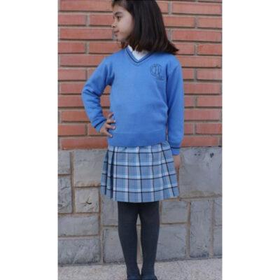 Suéter con cuello de pico. Hijas de la Caridad. Ruisell Uniformes Escolares