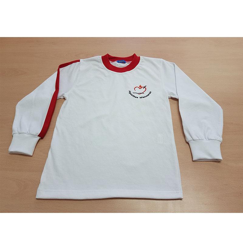 Camiseta de manga larga. Escuelas Agustinas Misioneras. Ruisell
