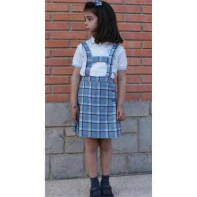 Falda plisada de cuadros. Hijas de la Caridad. Ruisell Uniformes Escolares