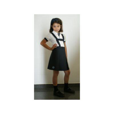 Falda de 2 pliegues delante. Escuelas San José. Uniformes Escolares.