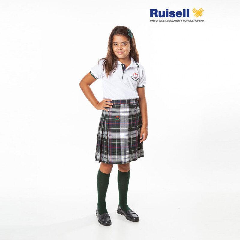 Falda plisada. Colegio Agustinas Misioneras. Uniformes Escolares.