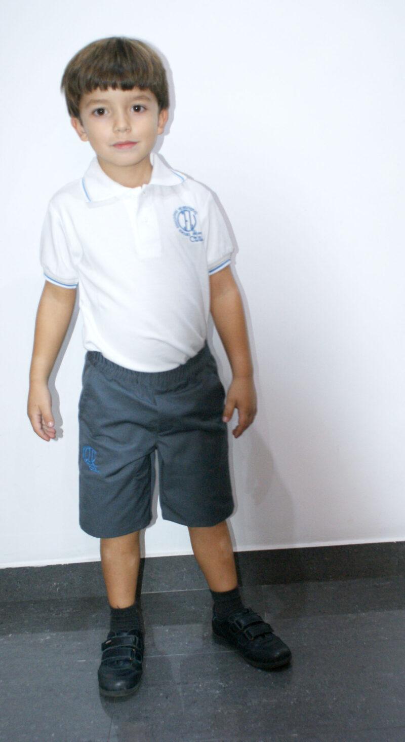 Pantalón corto gris. Hijas de la Caridad. Ruisell Uniformes Escolares