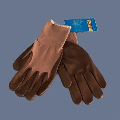 Guantes de nylon - nitrilo. Par de guantes transpirables y reutilizables.