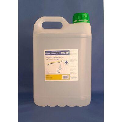 Gel hidroalcoholico fabricado en España. Producto antiséptico.