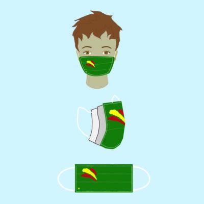 asarilla bandera España verde