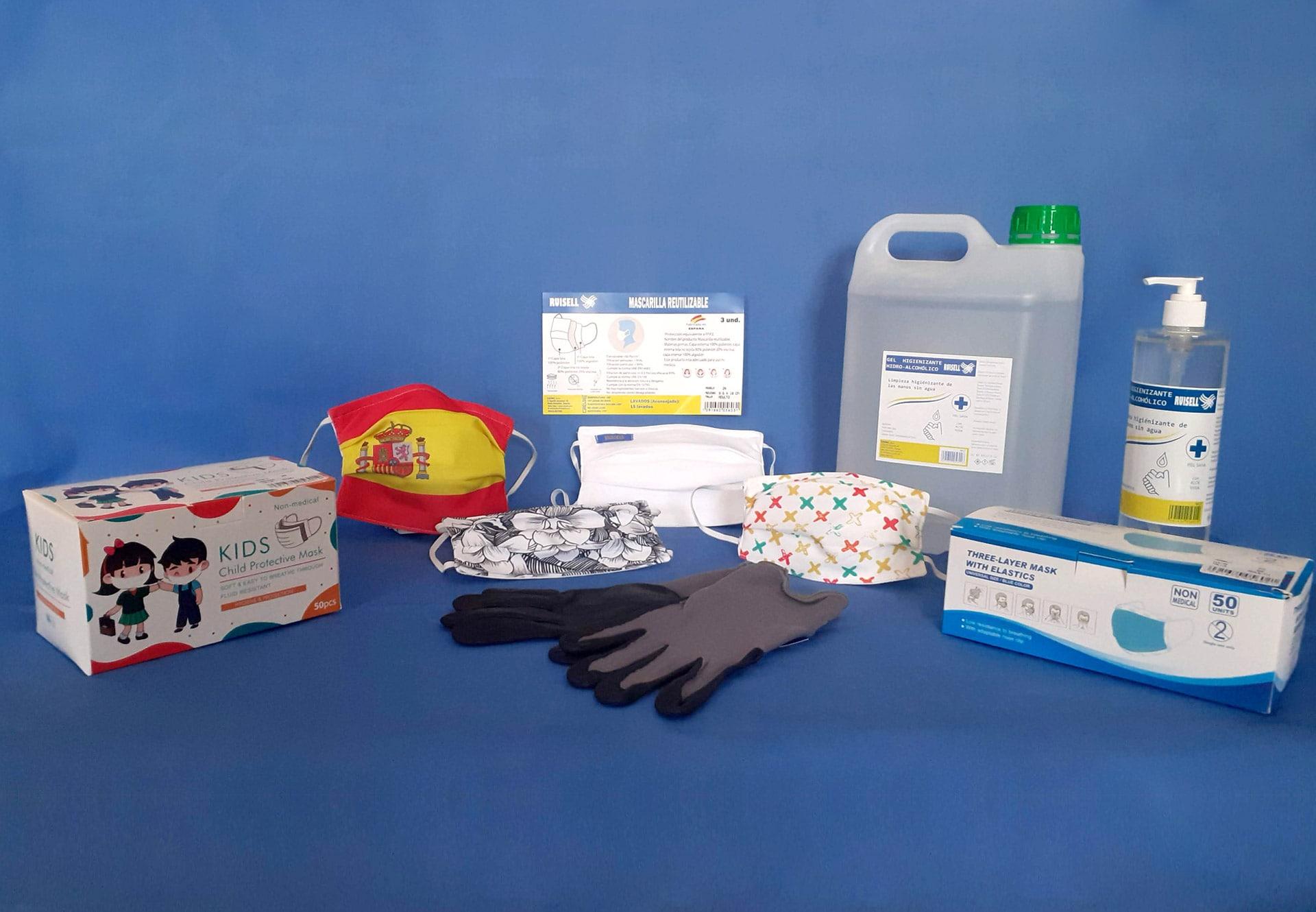 productos epi de ruisell. protección para el coronavirus.